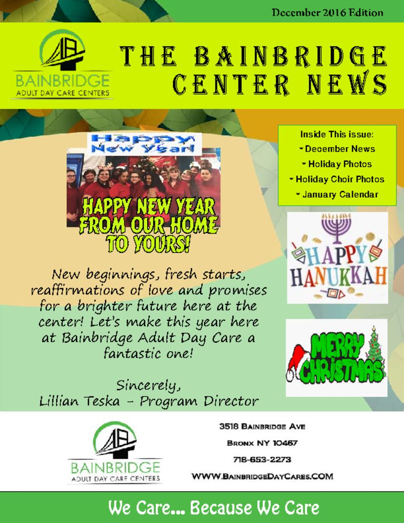 thumbnail of Bronx December Newsletter